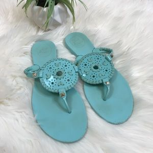 Jack Rogers Teal Blue Jelly Sandals Size 8